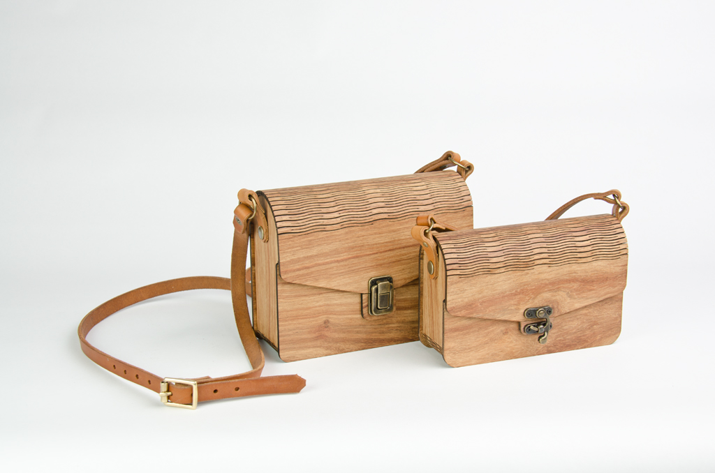 Wooden Handbags In Two Sizes